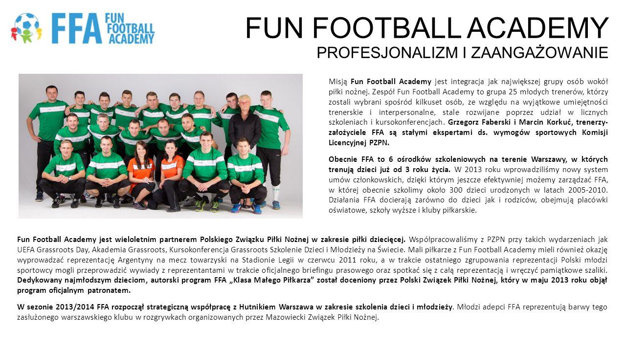 FUN FOOTBALL ACADEMY profesjonalizm i zaangażowanie