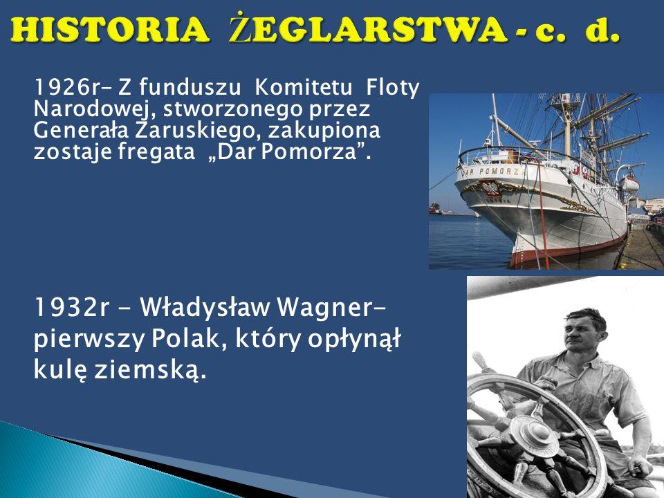 HISTORIA ŻEGLARSTWA - c. d.