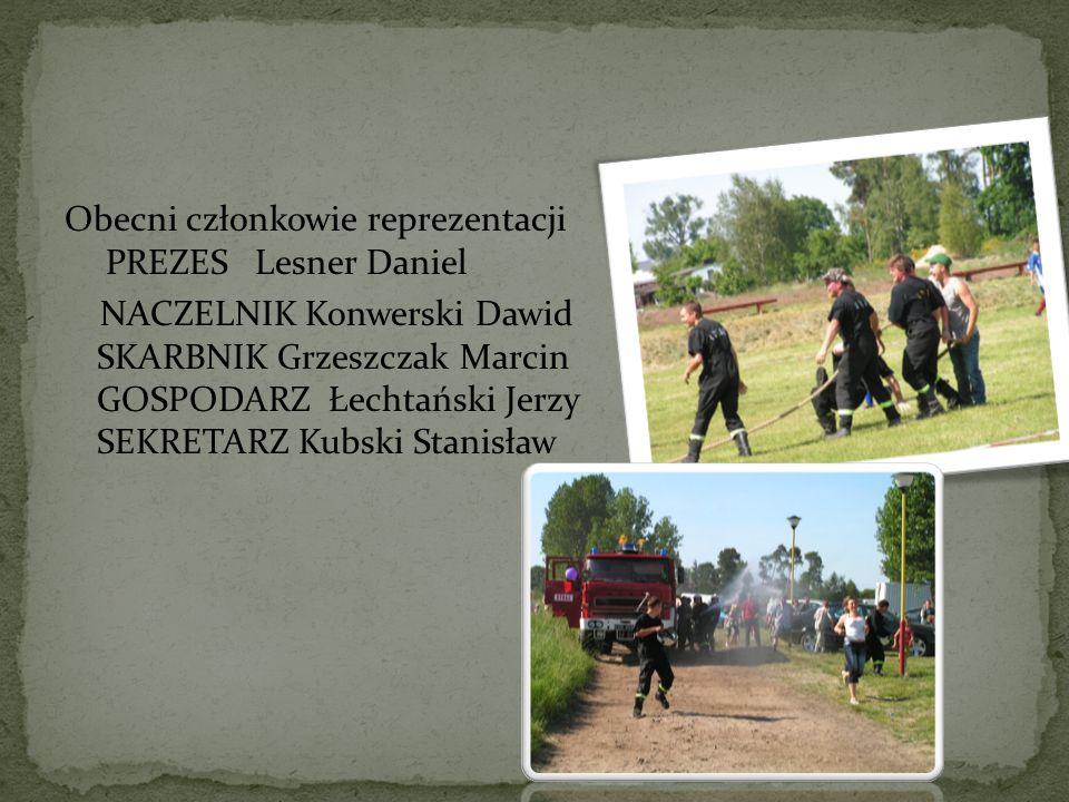 Obecni członkowie reprezentacji PREZES Lesner Daniel