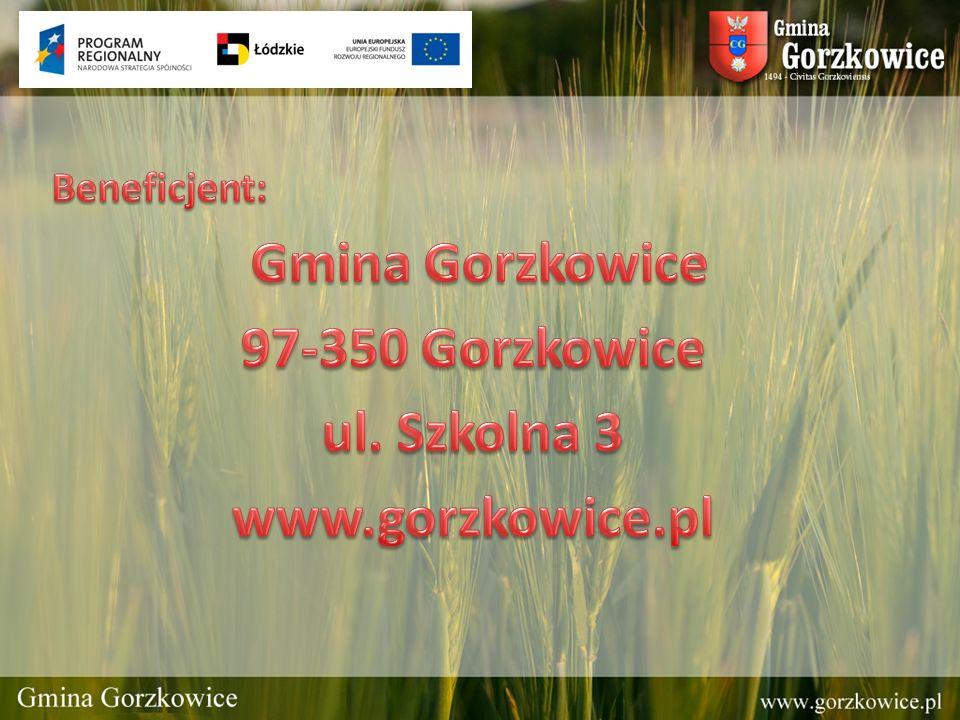 Gmina Gorzkowice 97-350 Gorzkowice ul. Szkolna 3 www.gorzkowice.pl