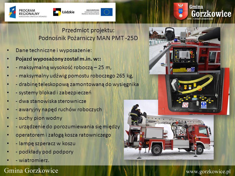 Przedmiot projektu: Podnośnik Pożarniczy MAN PMT -25D