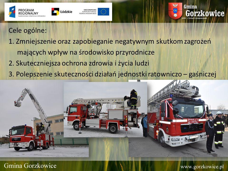 Cele ogólne: 1. Zmniejszenie oraz zapobieganie negatywnym skutkom zagrożeń. mających wpływ na środowisko przyrodnicze.