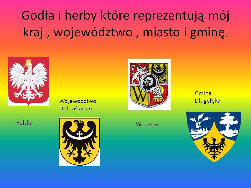 Godła i herby które reprezentują mój kraj , województwo , miasto i gminę.