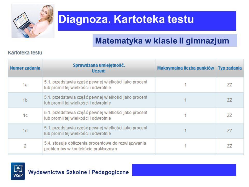 Diagnoza. Kartoteka testu