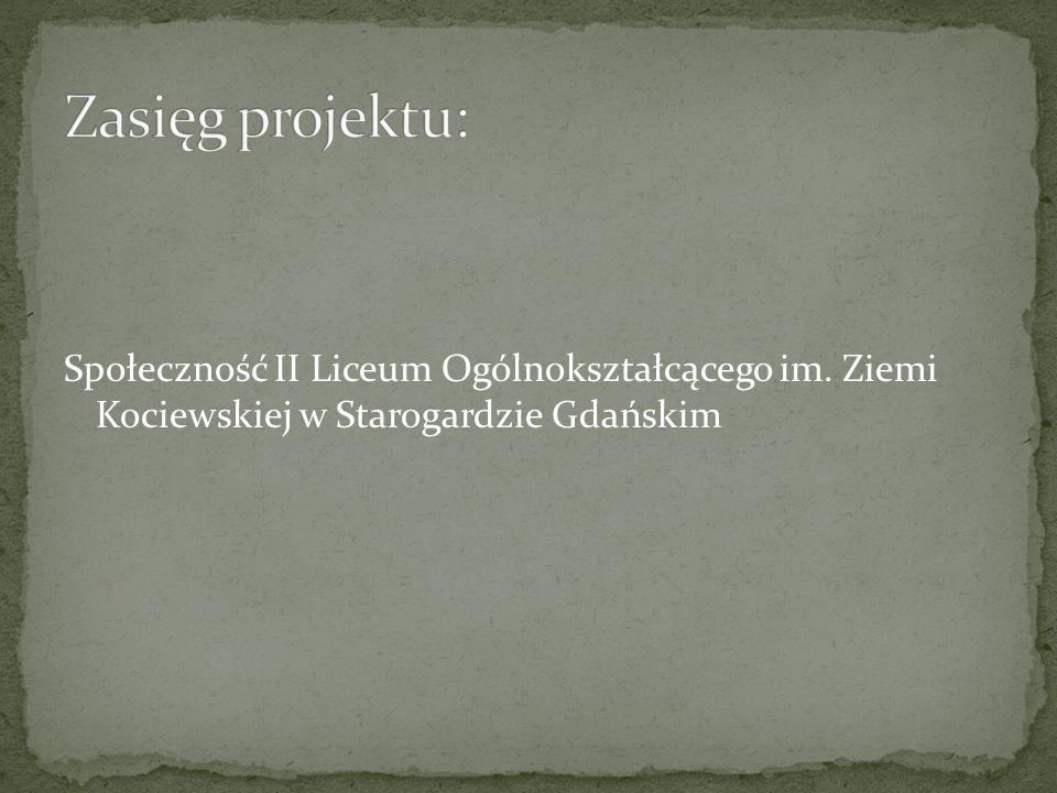 Zasięg projektu: Społeczność II Liceum Ogólnokształcącego im.