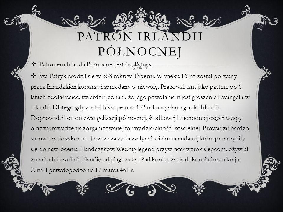 Patron irlandii północnej