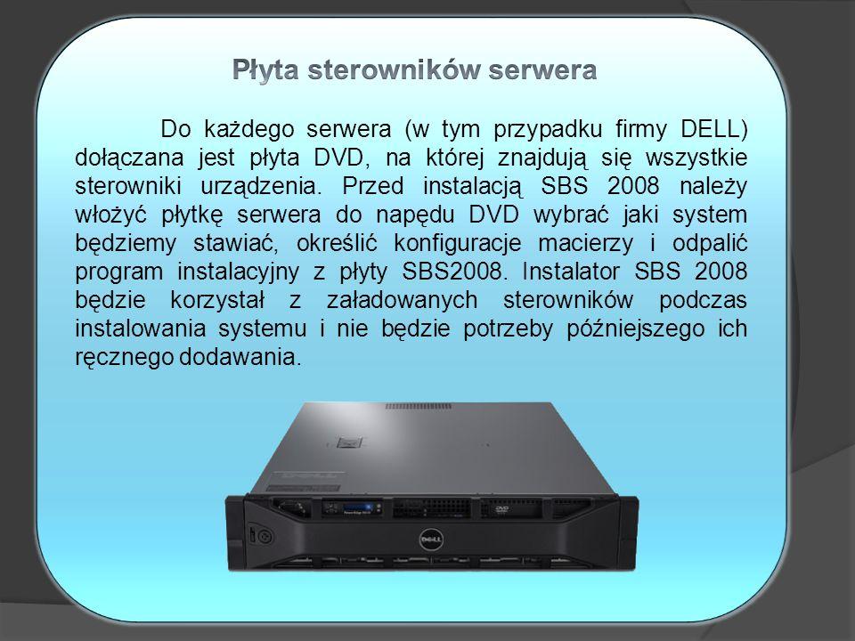 Płyta sterowników serwera
