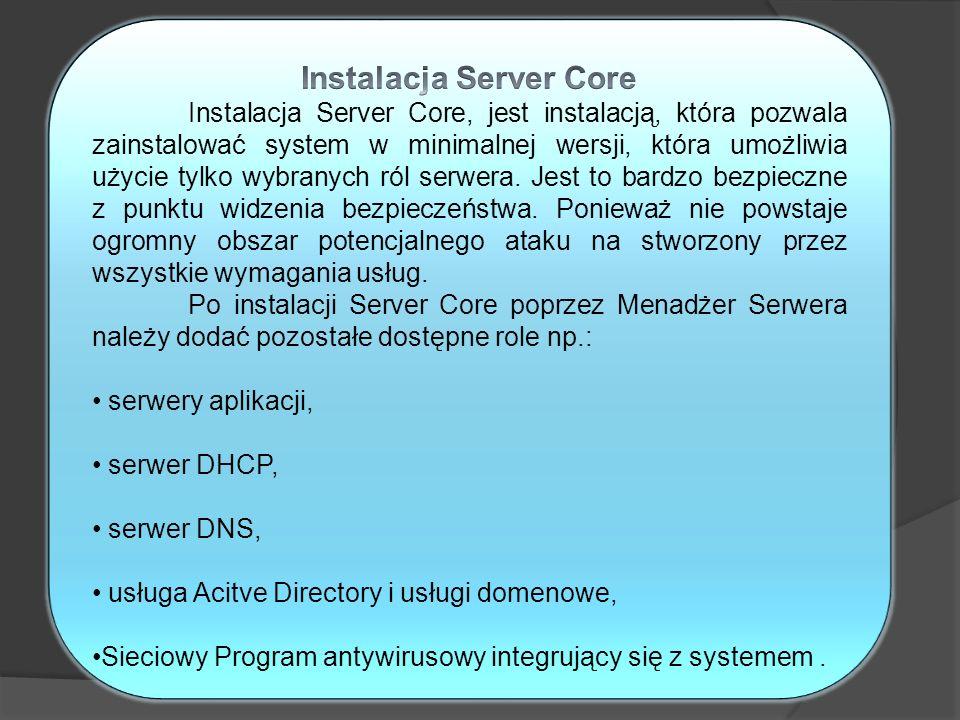Instalacja Server Core