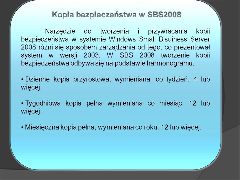 Kopia bezpieczeństwa w SBS2008