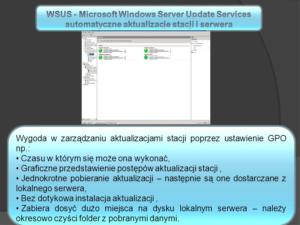 WSUS - Microsoft Windows Server Update Services