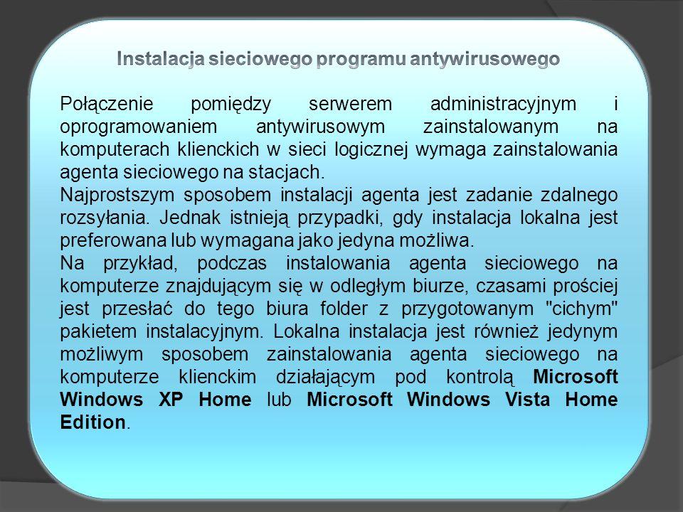 Instalacja sieciowego programu antywirusowego