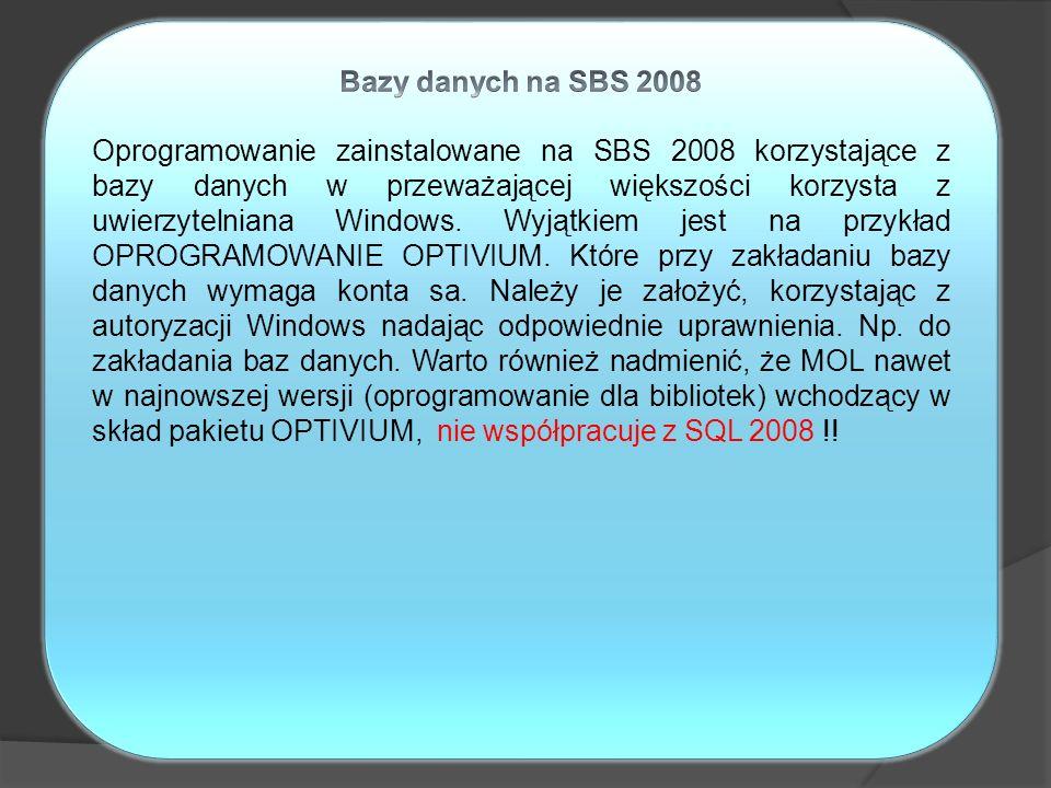 Bazy danych na SBS 2008