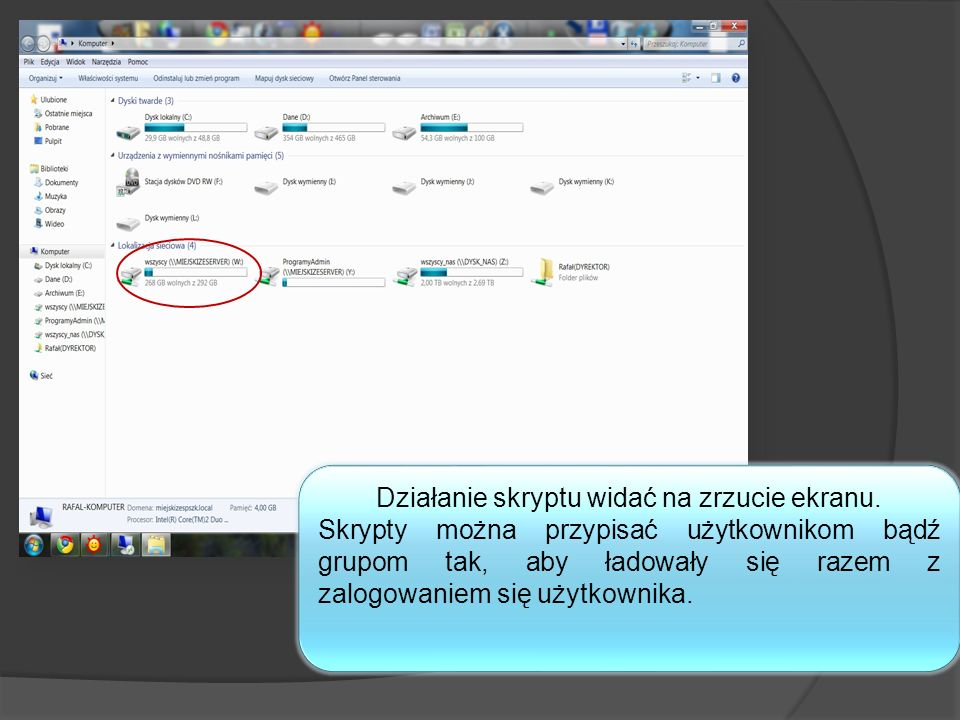 Działanie skryptu widać na zrzucie ekranu.