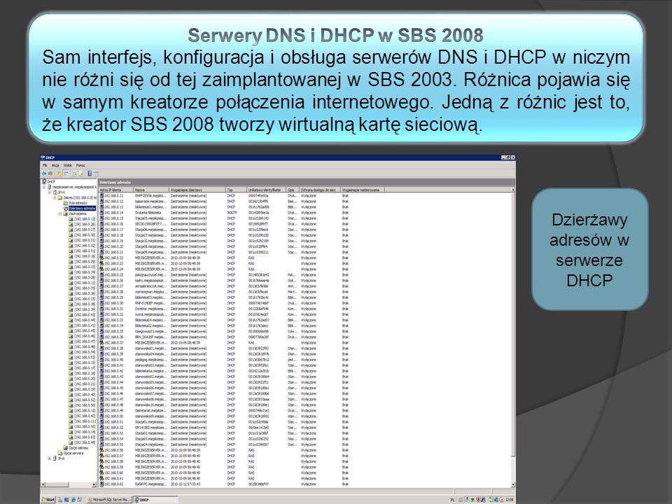 Dzierżawy adresów w serwerze DHCP