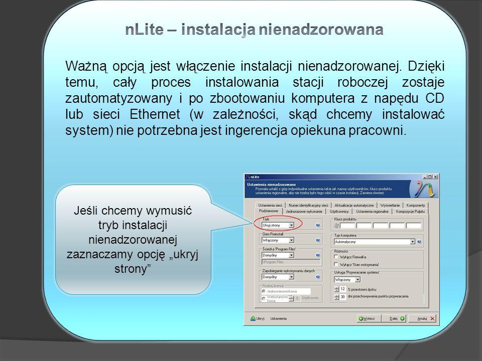 nLite – instalacja nienadzorowana