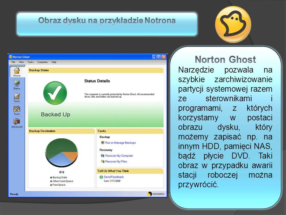 Obraz dysku na przykładzie Notrona