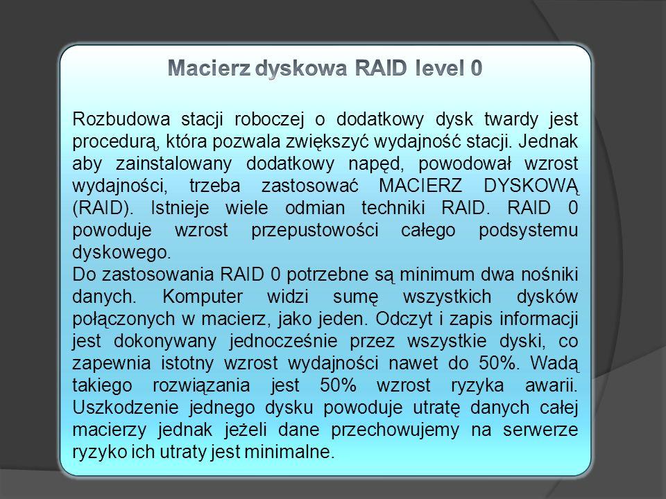 Macierz dyskowa RAID level 0