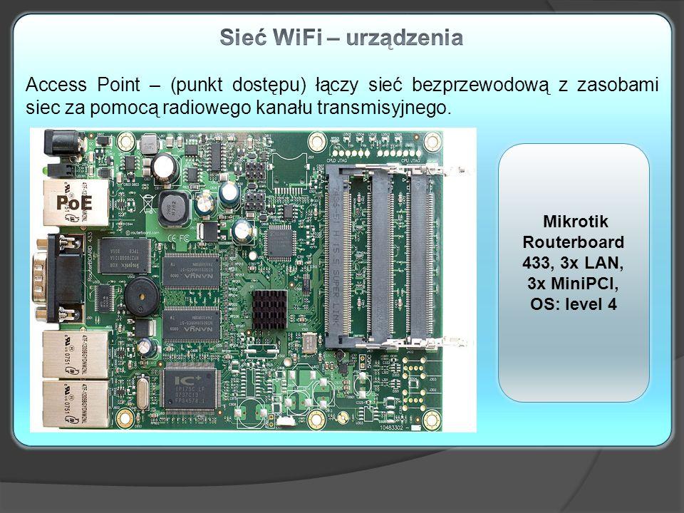 Mikrotik Routerboard 433, 3x LAN, 3x MiniPCI, OS: level 4