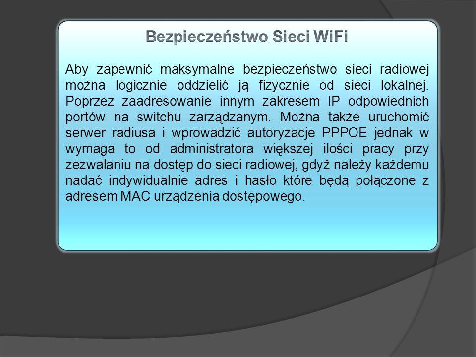 Bezpieczeństwo Sieci WiFi