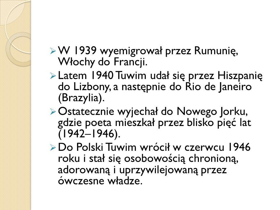 W 1939 wyemigrował przez Rumunię, Włochy do Francji.
