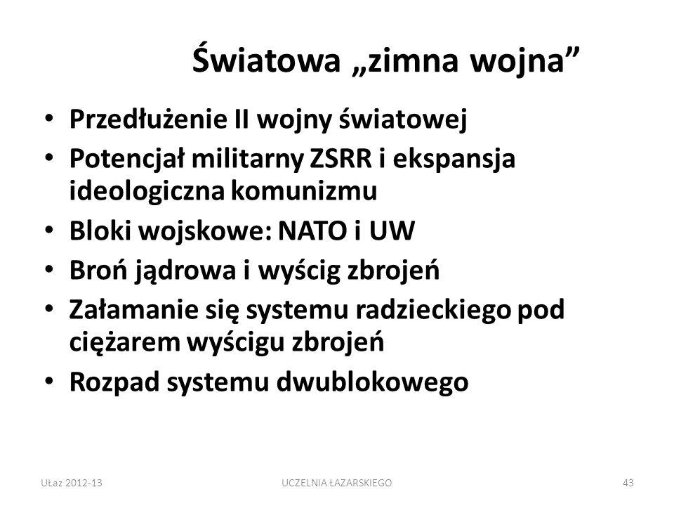 """Światowa """"zimna wojna"""