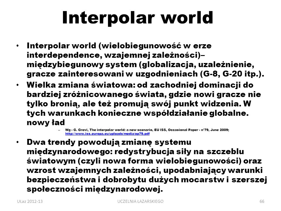 Interpolar world