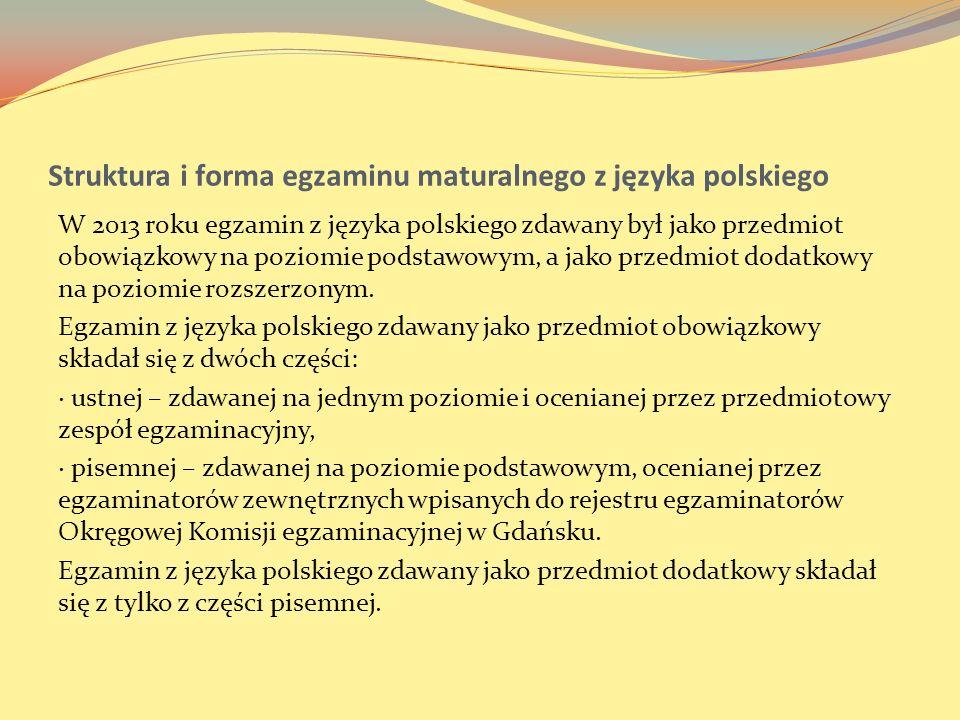 Struktura i forma egzaminu maturalnego z języka polskiego