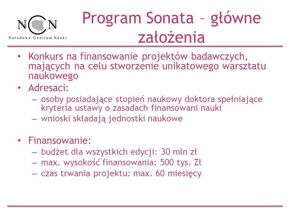 Program Sonata – główne założenia