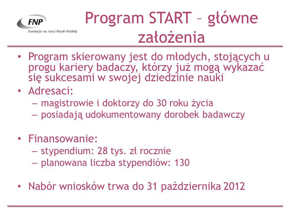 Program START – główne założenia