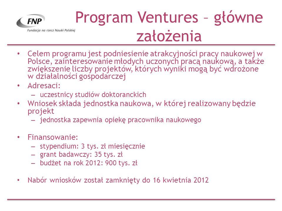 Program Ventures – główne założenia