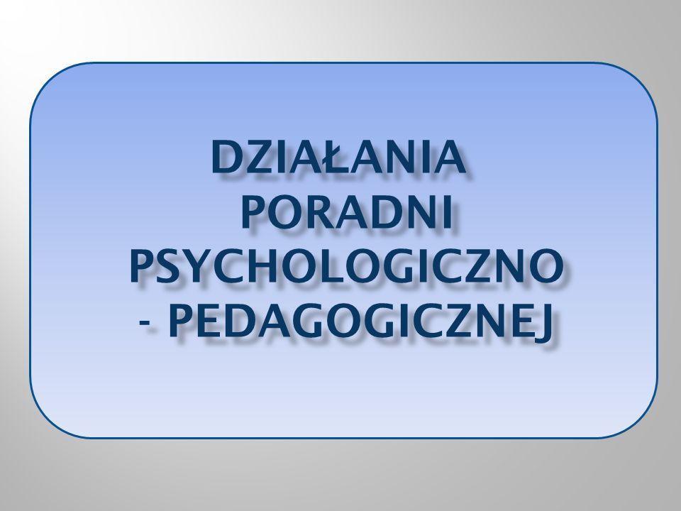 Działania poradni psychologiczno - pedagogicznej