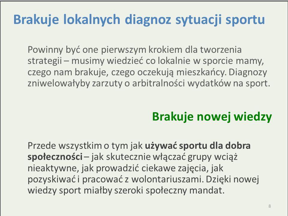 Brakuje lokalnych diagnoz sytuacji sportu
