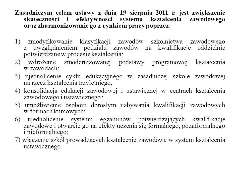 Zasadniczym celem ustawy z dnia 19 sierpnia 2011 r