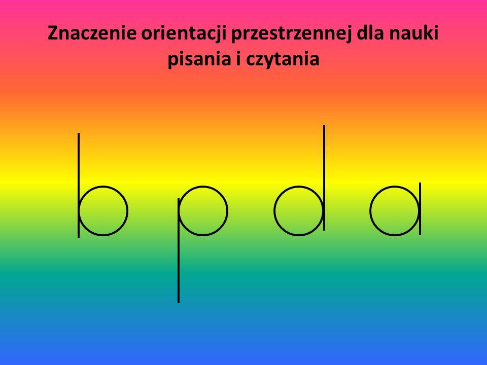 Znaczenie orientacji przestrzennej dla nauki pisania i czytania
