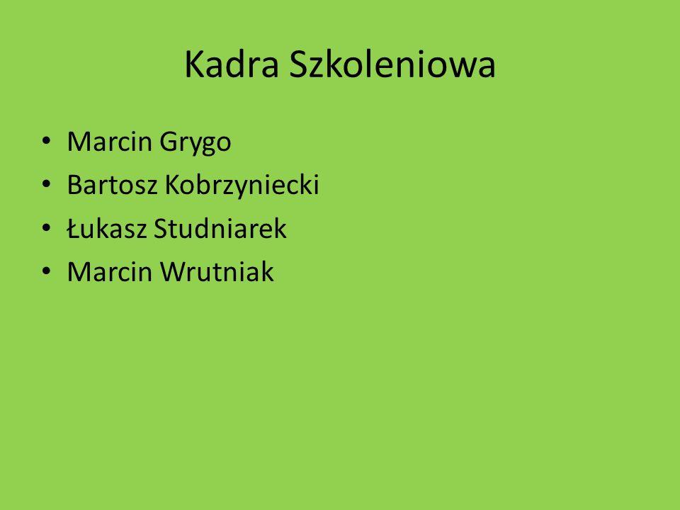 Kadra Szkoleniowa Marcin Grygo Bartosz Kobrzyniecki Łukasz Studniarek