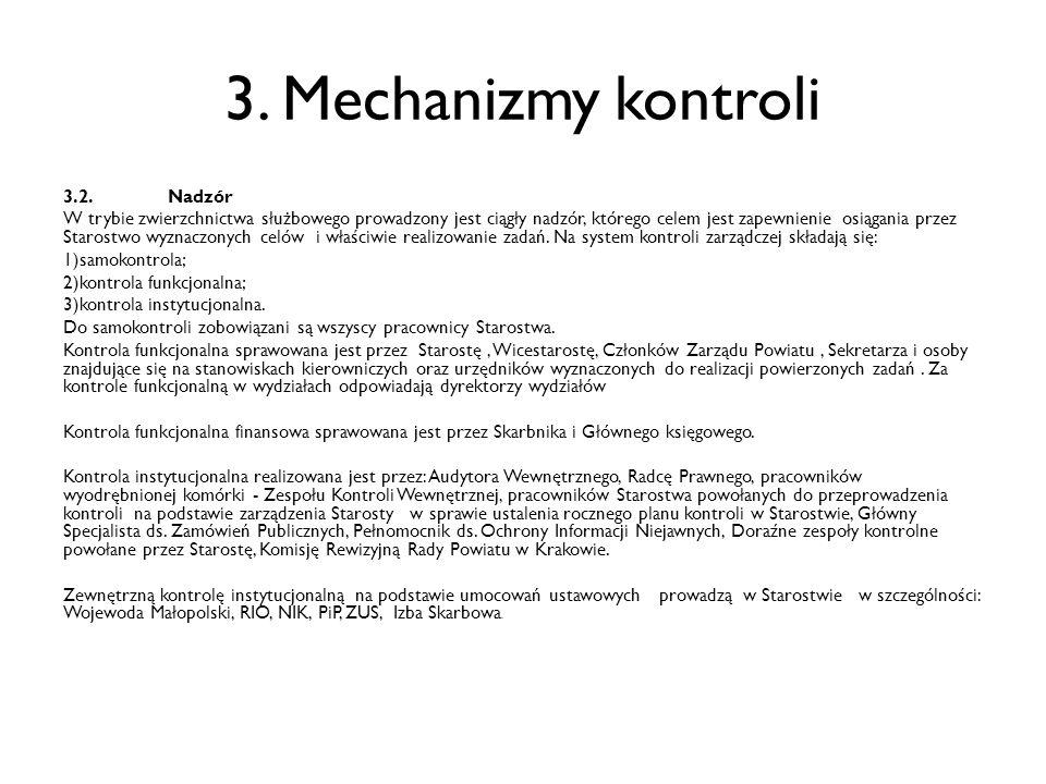 3. Mechanizmy kontroli 3.2. Nadzór