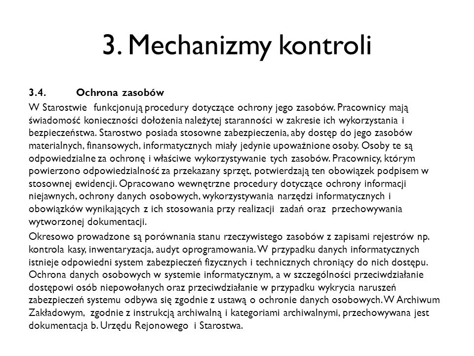 3. Mechanizmy kontroli