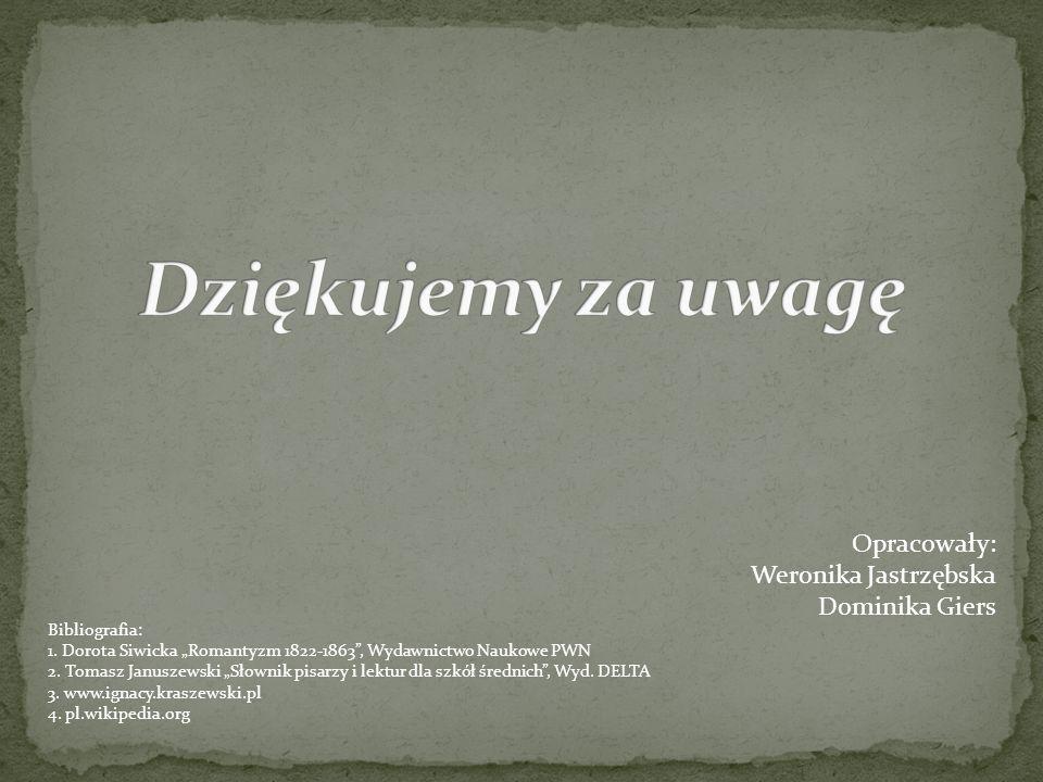 Dziękujemy za uwagę Opracowały: Weronika Jastrzębska Dominika Giers