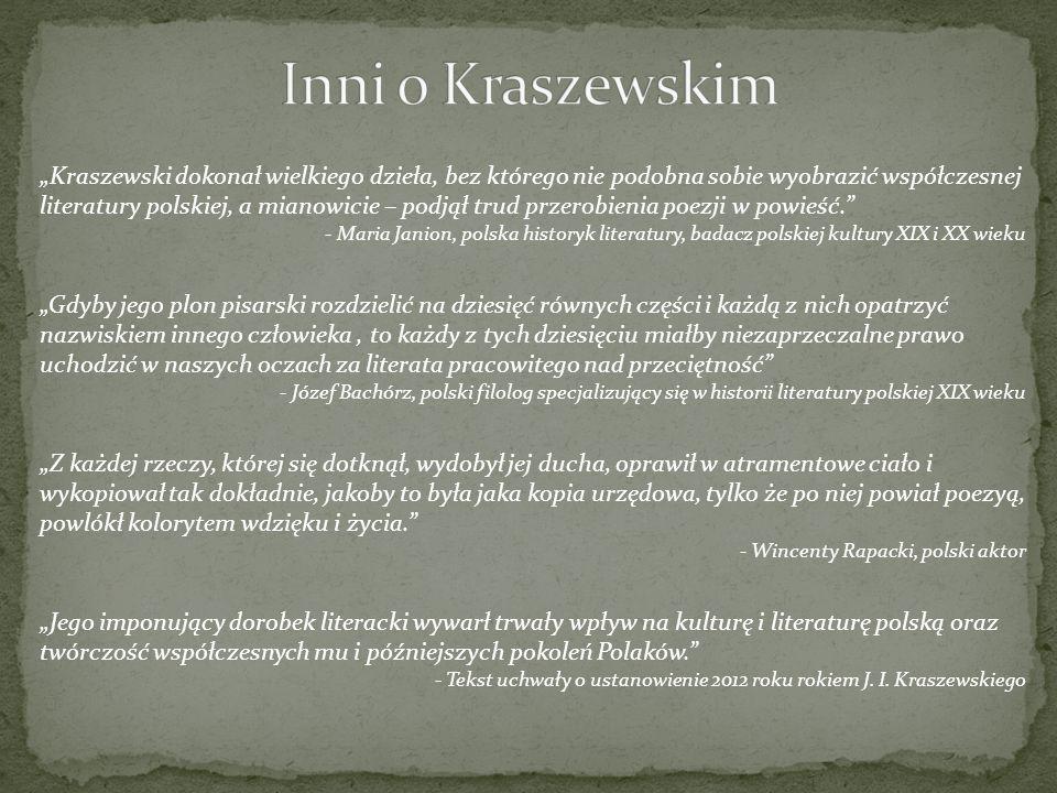 Inni o Kraszewskim