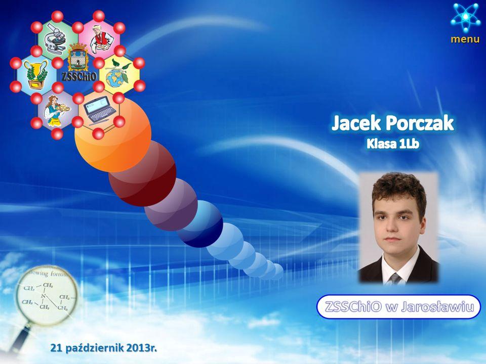 menu Jacek Porczak Klasa 1Lb 21 październik 2013r.