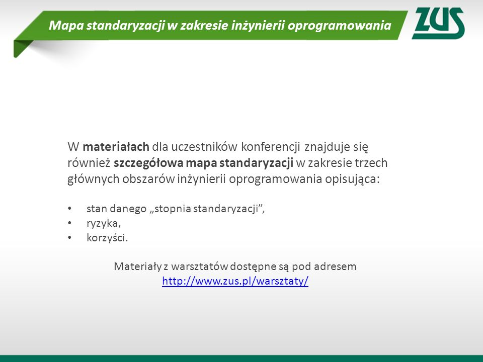 Mapa standaryzacji w zakresie inżynierii oprogramowania