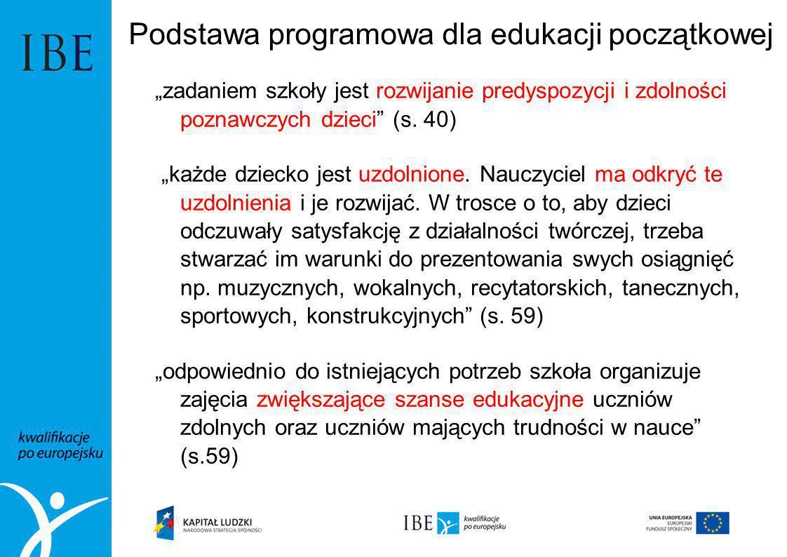 Podstawa programowa dla edukacji początkowej