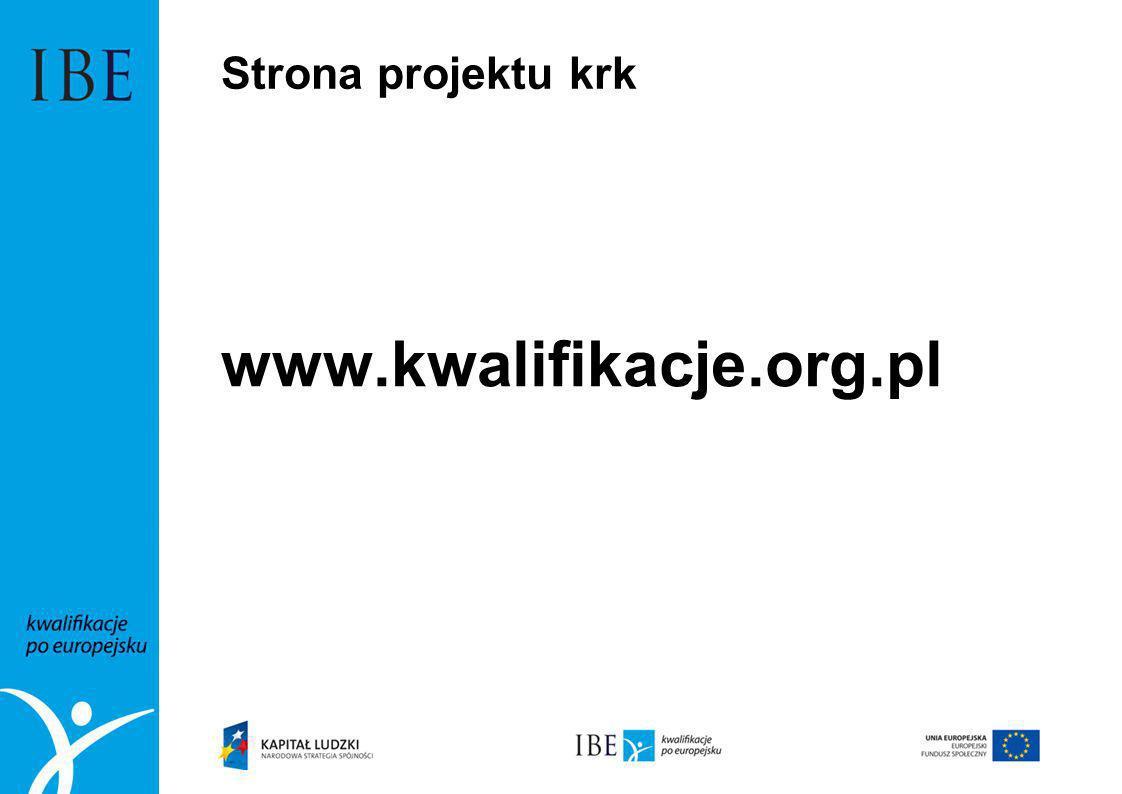 Strona projektu krk www.kwalifikacje.org.pl