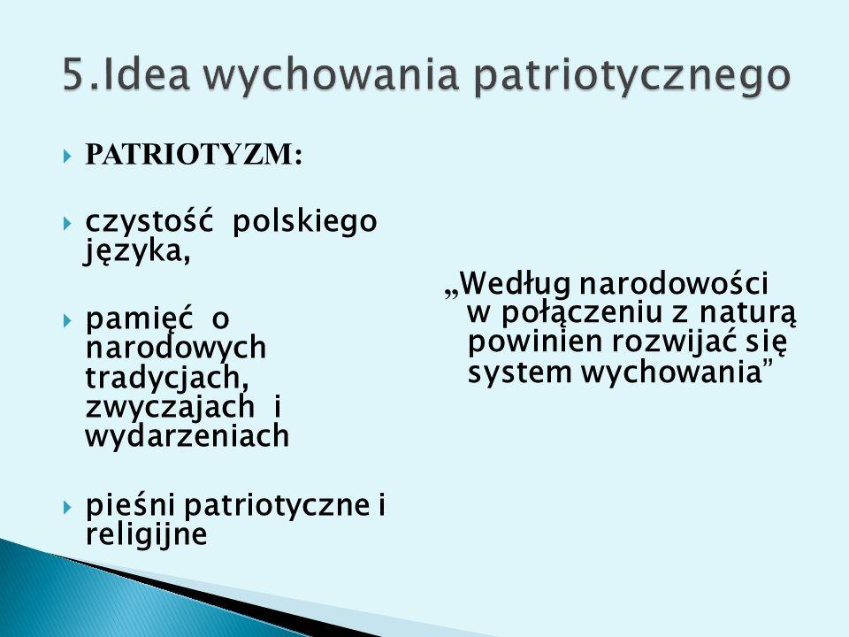 5.Idea wychowania patriotycznego