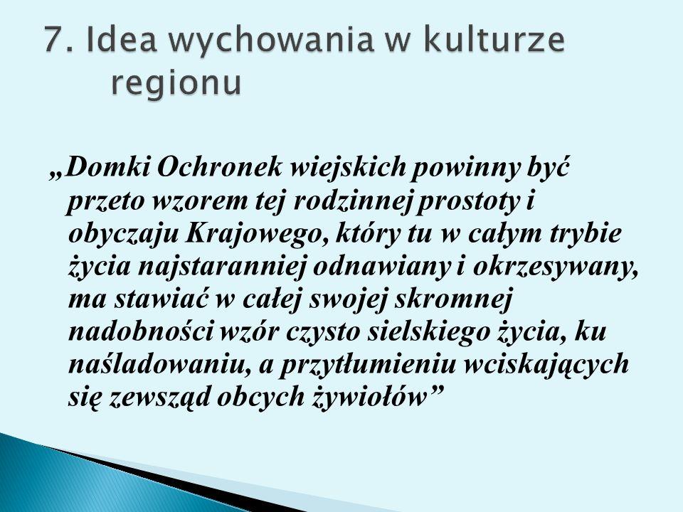 7. Idea wychowania w kulturze regionu