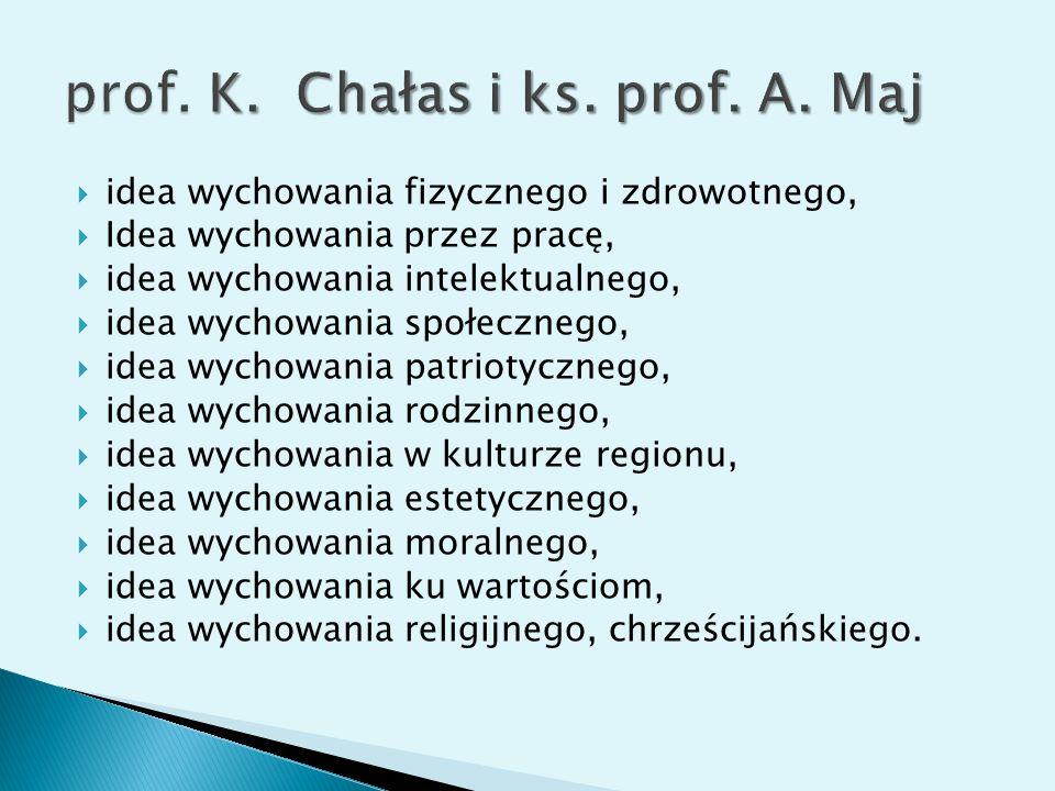 prof. K. Chałas i ks. prof. A. Maj