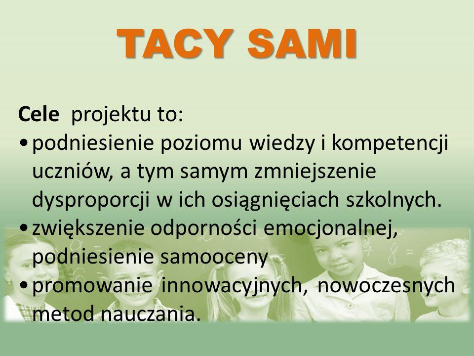 TACY SAMI Cele projektu to: