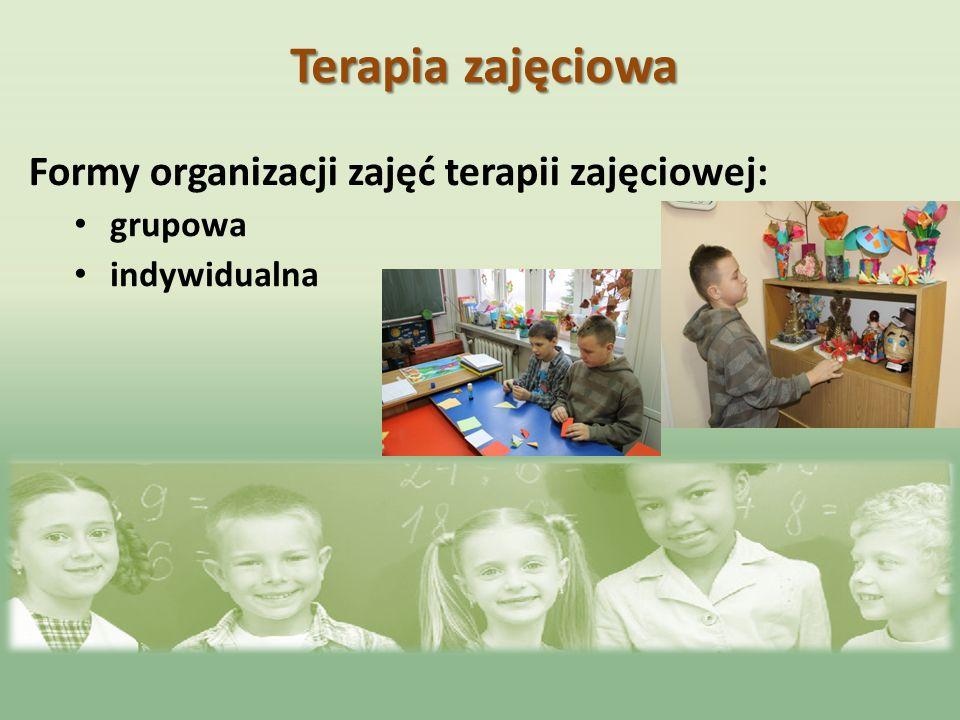 Formy organizacji zajęć terapii zajęciowej: