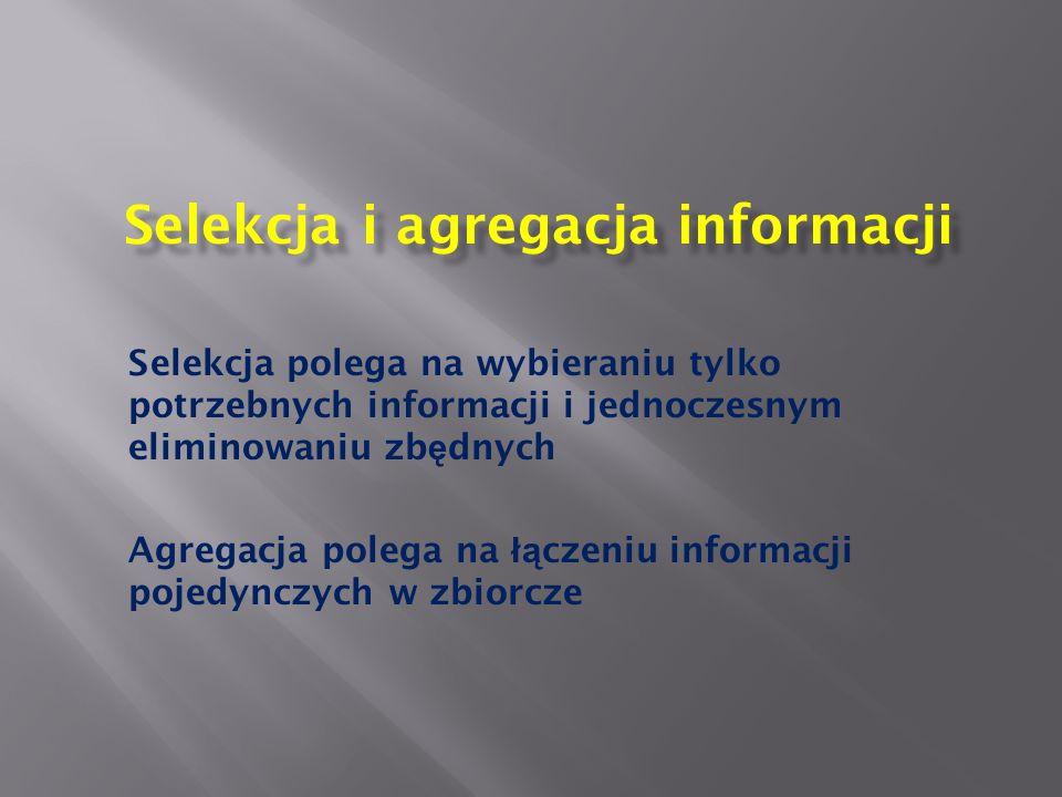 Selekcja i agregacja informacji