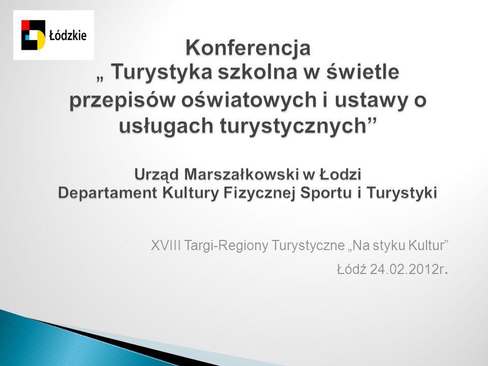 """XVIII Targi-Regiony Turystyczne """"Na styku Kultur Łódź 24.02.2012r."""